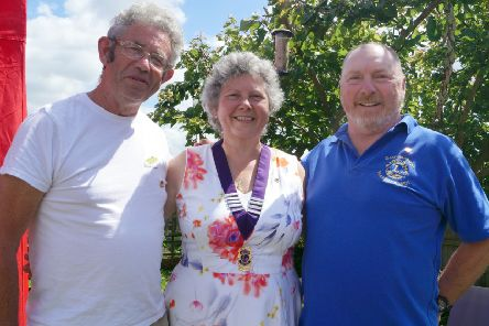 Elisabeth Eastburn is Market Rasen Lions' new president. Pictured with past president Gary Eastburn, right, and district governor Ron Lyus EMN-190907-092025001