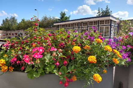 Market Rasen station is cared for by volunteers of the Station Adoption Group