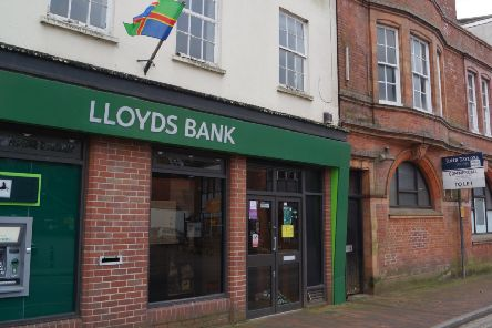 Market Rasen's Lloyds Bank which will close in June