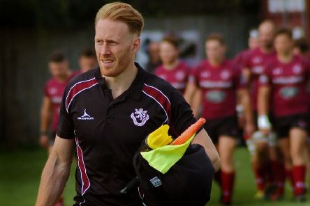 Head coach Gareth Collins crossed for Melton's try at Oadby