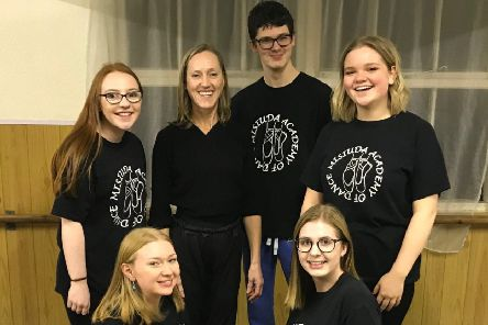 Nicola Clay (centre) with her senior dance group PHOTO: Supplied