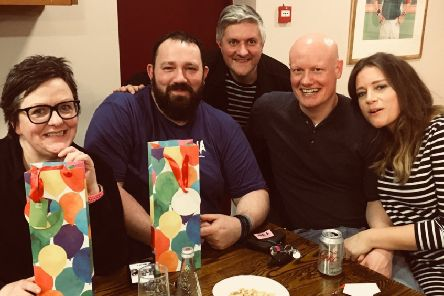 The winners of Melton Mowbray Tennis Club's first fundtraising quiz EMN-190219-160540002