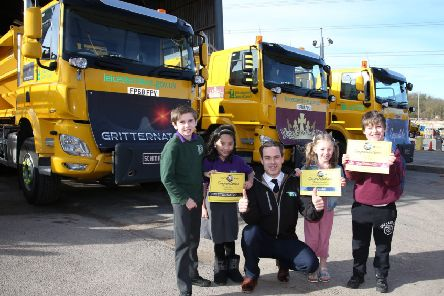 Winners of the Leicestershire County Council's Name the Gritter competition PHOTO: Supplied