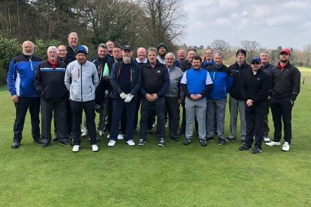 Melton GC's C team squad and guests at their Lincolnshire away weekend EMN-190423-153727002