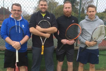 Hamilton Tennis Club men's team made a fine start to their county league campaign EMN-190423-160942002