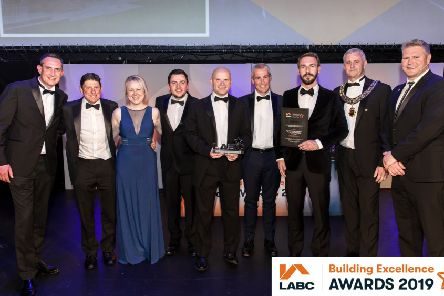 The team from HSSP and M Snutch Builders & Contractors with their award.