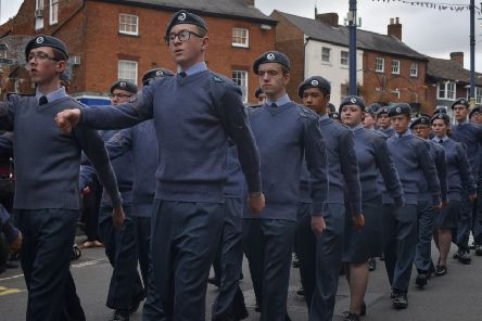 Melton's Battle of Britain parade 2019 - the parade marches through Leicester Street EMN-190916-134048001