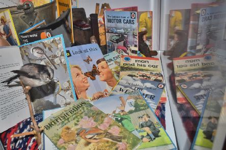 Display items in the new Ladybird Books exhibition at Melton Carnegie Museum EMN-200122-122731001