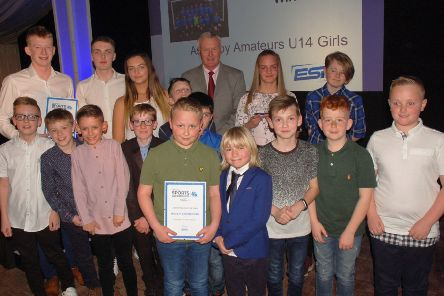 Our Junior Team of the Year last year was Asfordby Amateurs FC Girls U14s, pictured with sponsors ESF Events, and finalists Asfordby FC U10s Predators and John Ferneley College U15s basketball EMN-201202-172551002