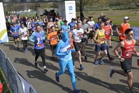 Runners take on the Brighton Marathon 2019 (Photograph: Jon Rigby)