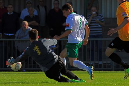 Stu Green in Rocks action against Merstham in 2015 / Picture by Chris Hatton