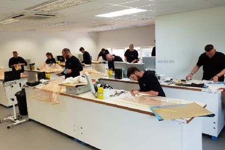 The apprentices at the company