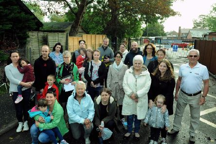 Concerned andshocked'residents, past and present parents and former students of Rumboldswhyke school have rallied against the closure proposal.Photo: Kate Shemilt