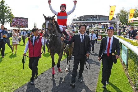 Oisin Murphy has had an excellent Goodwood season - including this win for Japanese horse Deirdre in the Nassau Stakes / Picture by Malcolm Wells