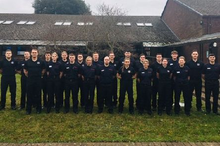 The group of new recruits from all three Fire & Rescue Sevices