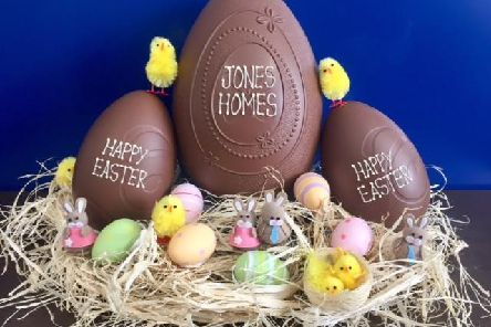Anyone who completes the egg hunt will receive a chocolate goodie bag
