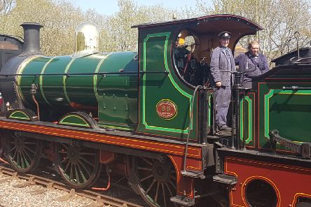 A fine-looking engine on the Bluebell Railway