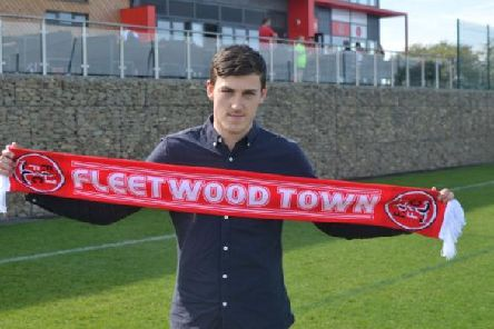 Ashley Nadesan when he signed for Fleetwood. Picture courtesy of Fleetwood Town