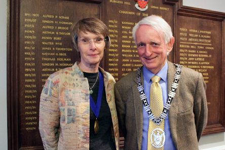 Burgess Hill mayor Roger Cartwright and deputy mayor Anne Eves. Picture: Burgess Hill Town Council