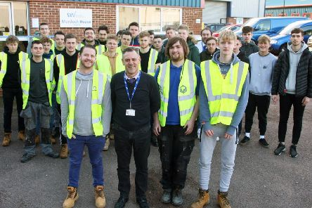 Apprentices at Steve Willis Training Centre in Burgess Hill. Photo by Derek Martin Photography