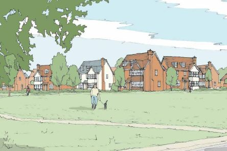 Artist's impression of homes planned for Friars Oak Field north of Hassocks