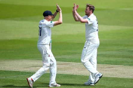 Ollie Robinson (right) had success at Derby but it was in vain for Sussex / Picture: Getty Images