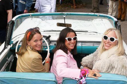 DM1991705a.jpg. The Goodwood Revival event earlier this year. From left, Becs MacLeod, Kate Pryde and Abby Hewitt. Photo by Derek Martin Photography. SUS-190913-124538008