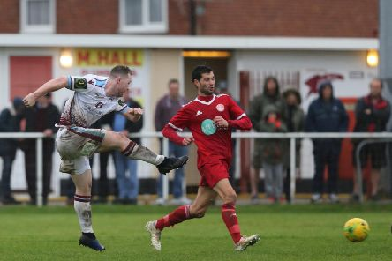 Hastings United's top scorer Ben Pope. Picture by Scott White