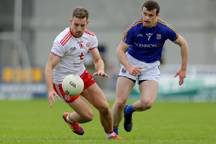 Tyrone's Niall Sludden and Darren Quinn of Longford