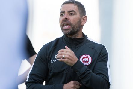 Larne manager Tiernan Lynch. Pic by INPHO