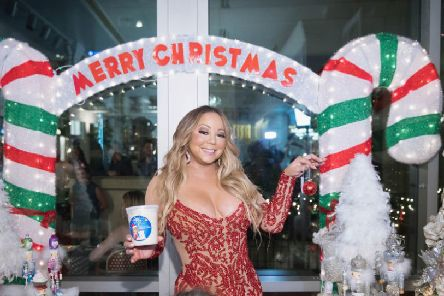BELLEVUE, WA - SEPTEMBER 06:  Global icon Mariah Carey announces Mariah Carey Christmas Factory during the grand opening Of Sugar Factory American Brasserie on September 6, 2017 in Bellevue, Washington.  (Photo by Mat Hayward/Getty Images for Sugar Factory American Brasserie)