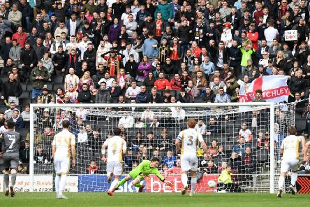 Lincoln open the scoring at Stadium MK