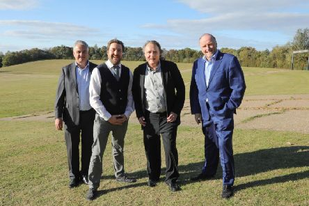 Charles Macdonald, Chief Executive of Milton Keynes Development Partnership, MK Council leader Pete Marland, Pete Winkelman and John Cove.