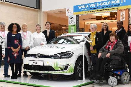 The car is on display at centre:mk