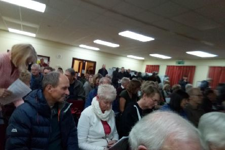 Standing room only at the meeting in Woburn Sands