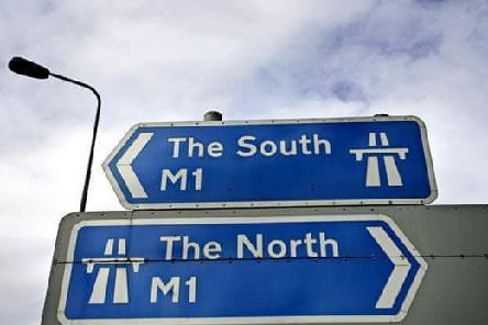 Motorists faced delays after a rush-hour crash between Junctions 14 and 15 on the M1.