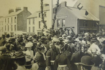 Holywood Maypole, photo undated