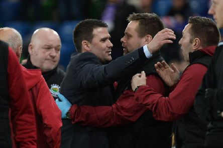 Linfield Manger David Healy celebrates their BetMcLean League Cup final win over Ballymena United.'Pic Colm Lenaghan/Pacemaker