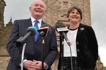Arlene Foster and Martin McGuinness sent the letter to Downing Street in August 2016