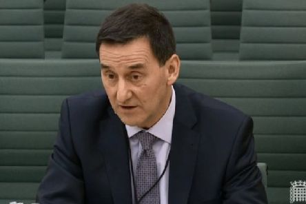 Derek Baker, permanent secretary of the Department of Education, giving evidence to the NI Affairs Committee in Westminster. Pic: parliamentlive.tv