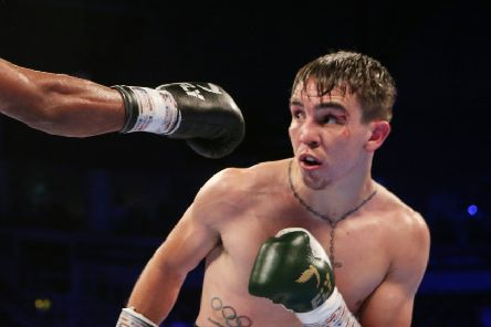 The Homecoming Fight Night, SSE Arena, Belfast 30/6/2018'Featherweight Bout'Michael Conlan with Adeilson Dos Santos'Mandatory Credit �INPHO/Presseye/Jonathan Porter