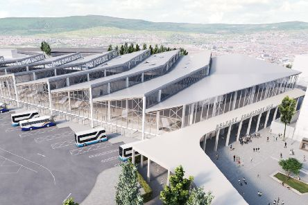 A computer generated image of the new transport hub