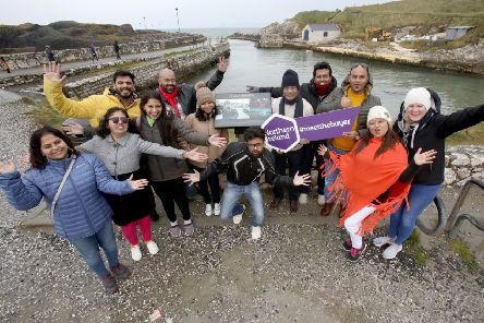 Top international tour operators have been visiting the Causeway Coastal Route, as part of a fact-finding trip to Northern Ireland.  They are pictured stopping off at Ballintoy Harbour with Siobhan McNaughton, Tourism Ireland (standing right)''Pic by Paul Faith (no repro fee)''Further media information:'Elaine Moore / Clair Balmer, Tourism Ireland 'Tel: 077 6652 7719