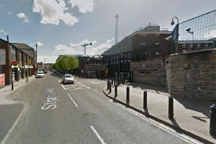 Strand Road PSNI Station, Londonderry. Pic by Google