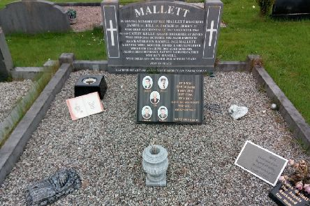 The grave of the Mallett brothers in Ardmore cemetery