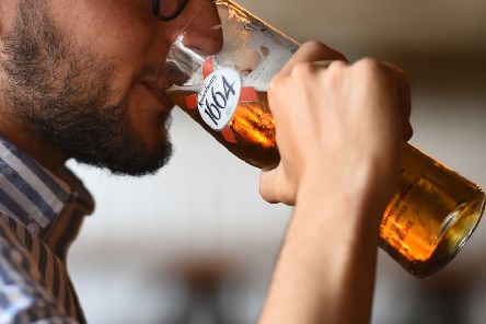 The survey said Britons got drunk on average once a week