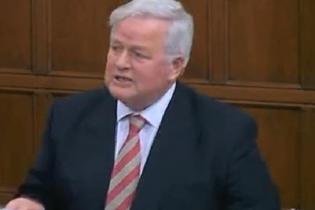 Bob Stewart MP speaking at Westminster today. Pic: parliamentlive.tv
