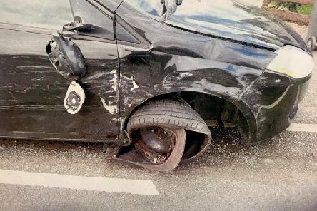 Car involved in collision in middle of school run - PSNI image
