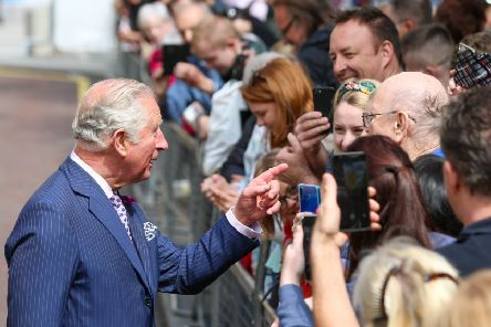 Press Eye - Belfast - Northern Ireland - 22nd May 2019 - ''The Prince of Wales and  Duchess of Cornwall are pictured meeting people in Belfast City Centre as part of their 2 day visit to Northern Ireland. ''Picture Matt Mackey / Press Eye.