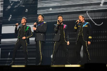 Westlife on stage at Belfast's SSE Arena on the first night of their comeback tour. Pic by Arthur Allison, Pacemaker